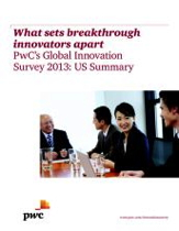Cover Page - What sets breakthrough innovators apart PwC's Global Innovation Survey 2013