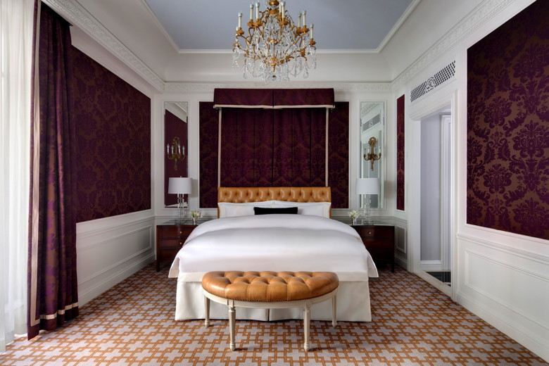 Renovated guestroom at The St. Regis New York