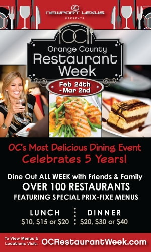 Oc Restaurant Week Celebrates 5 Year Anniversary February 24 March 2 2017