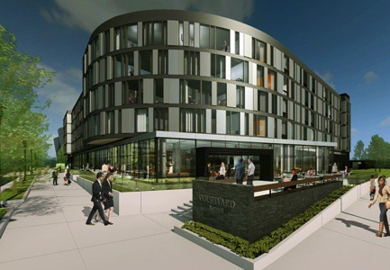 Rendering - Courtyard Philadelphia South at The Navy Yard