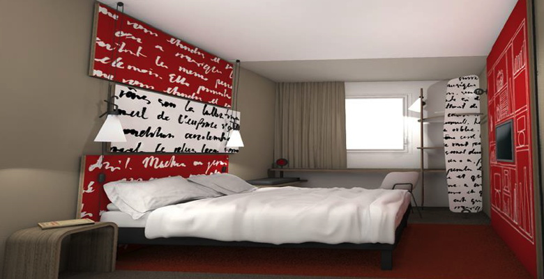 Image of an ibis guest room