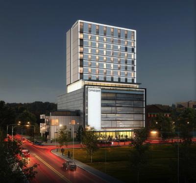 Rendering of the Dream Dallas Hotel
