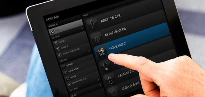 Screenshot  of Z-Wave Home Control Tablet Application © http://z-wave.sigmadesigns.com/
