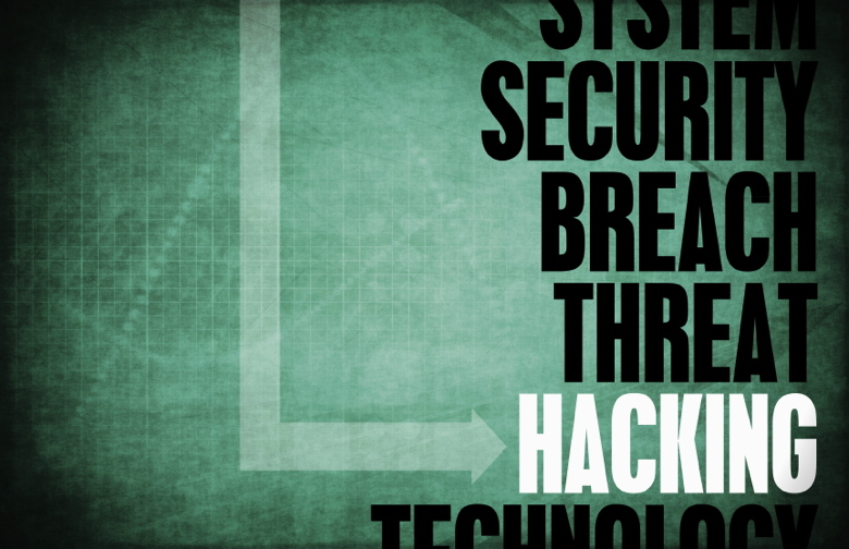 Graphic containing words relating to Hacking Computer Security Threat and Protection