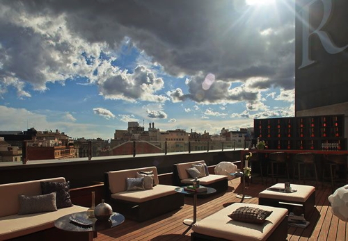 Roof Terrace at the Renaissance Barcelona Hotel