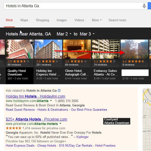 Screenshot from Google Carousel