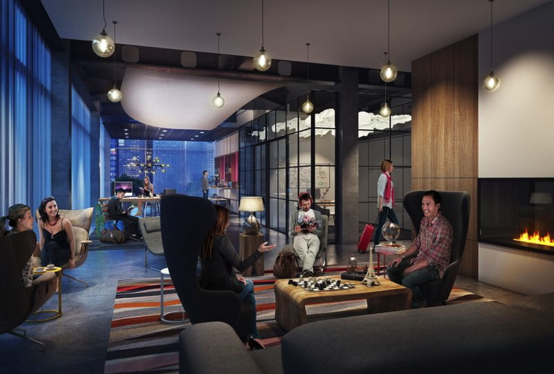 Marriott Moxy Hotels Livingroom