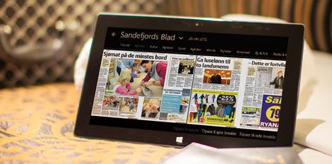 Screenshot of PressReader on a tablet