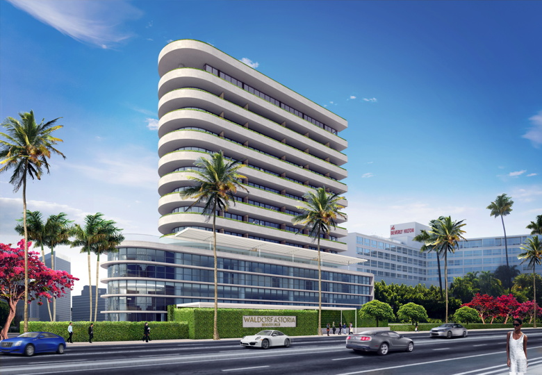 Rendering of the Waldorf Astoria Beverly Hills