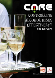 Graphic for the Controlling Alcohol Risks Effectively® (CARE) for Servers' training video