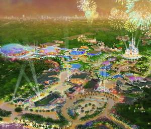 Rendering of the Shanghai Disney Resort