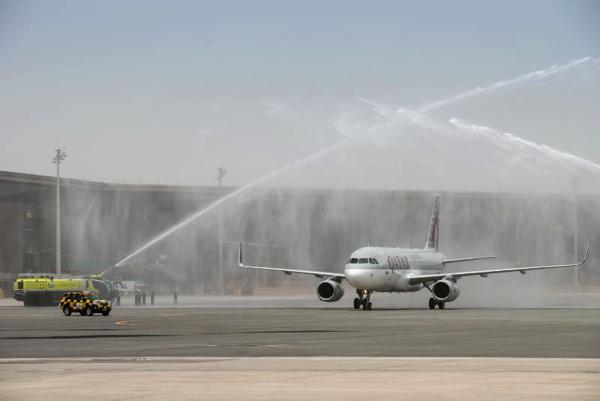 Water Salute Qatar Airway