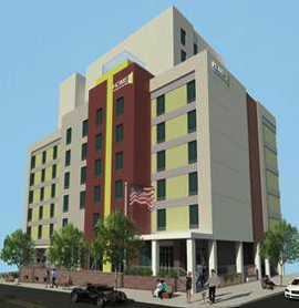 Rendering of the Homewood Suites by Hilton Long Island City/Manhattan View