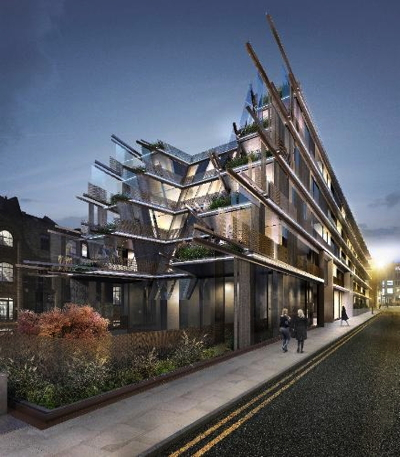 Rendering - Nobu Hotel Shoreditch London
