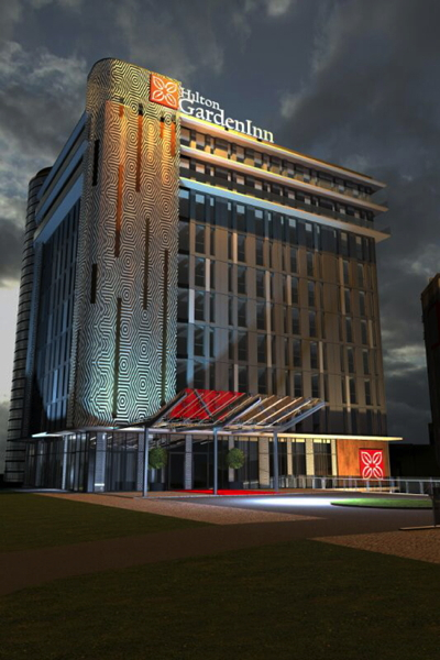 Rendering of the Hilton Garden Inn Riga Valdemara