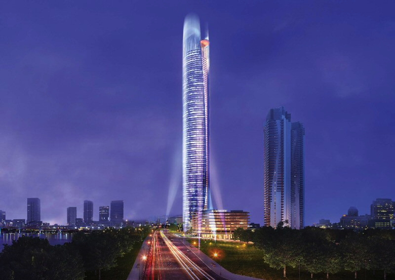 Rendering of the Fairmont Nanning