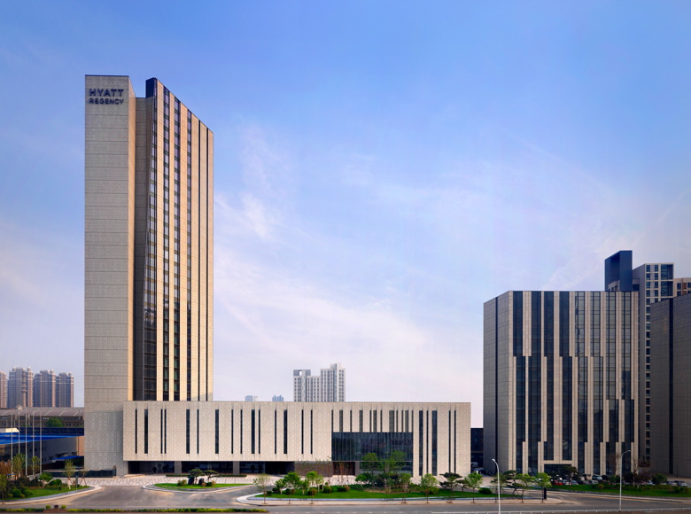 Rendering of the Hyatt Regency Tianjin East in China