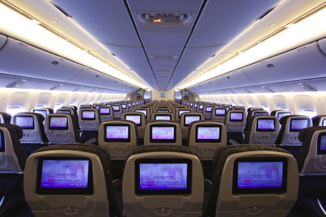 Interior of EVA New Boeing 777-300ERs