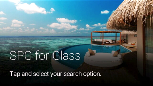 The SPG app for Google Glass