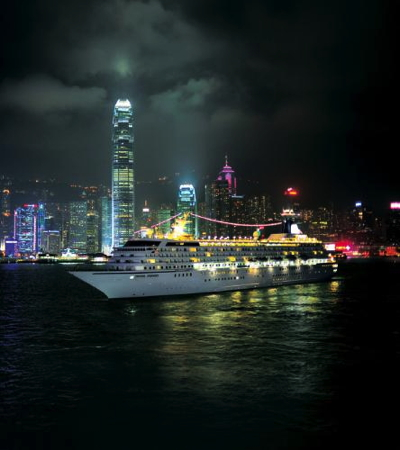 Crystal Symphony in Hong Kong's Victoria Harbour