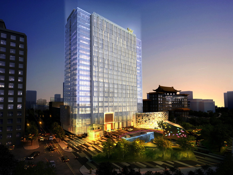 Exterior rendering of the W Beijing - Chang'an