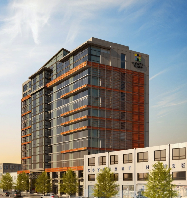Rendering of the Hyatt Place Washington D.C./U.S. Capitol