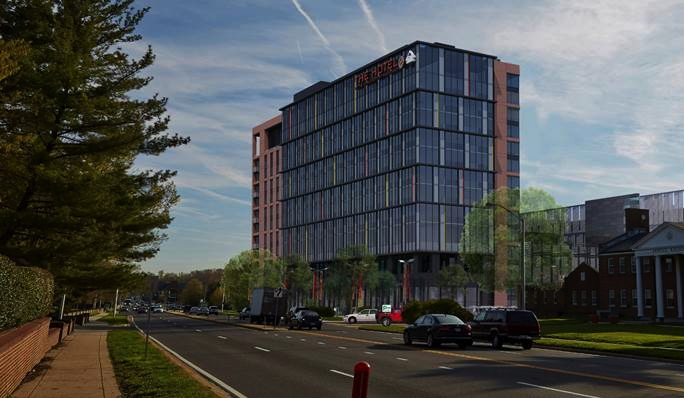 Rendering of the The Hotel at the University of Maryland