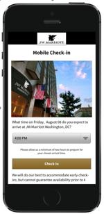Screenshot Marriott Mobile App