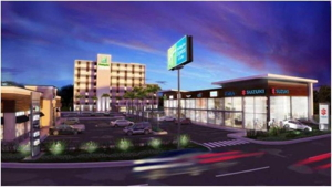 Rendering of the Holiday Inn Express Tegucigalpa