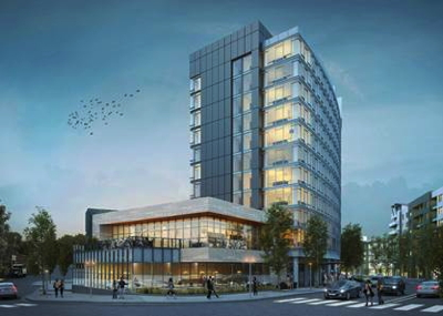 Rendering of the Thompson Nashville Hotel
