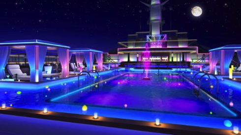 A rendering of the new Night Sky Lounge hints at the evening experience onboard Regal Princess this fall.