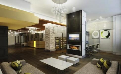 Lobby at the Hilton Garden Inn Times Square Central
