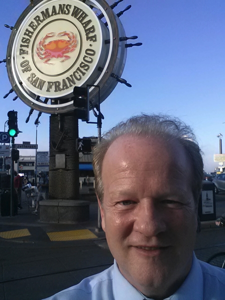 Doug Kennedy's selfie from Fisherman's Warf