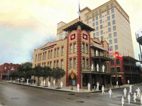 Artist's rendering of the Conrad N. Hilton College - San Antonio in Sunset Station