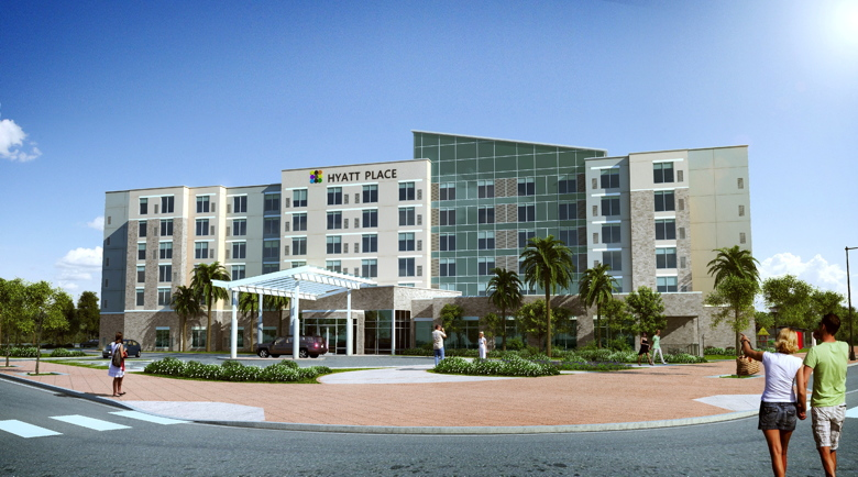 Rendering of the Hyatt Place San Juan