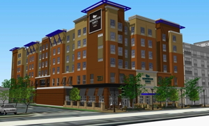 Rendering of the Homewood Suites by Hilton Rochester Mayo Clinic Area/Saint Marys
