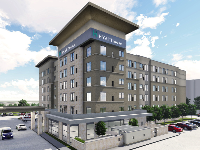 Rendering of the First New-Build Hyatt House Hotel in Texas
