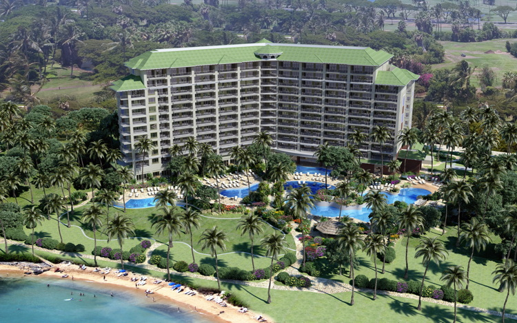 Rendering of Hyatt Kā'anapali Beach, a Hyatt Residence Club Resort