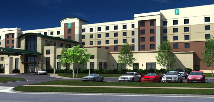 Rendering of the Embassy Suites Oklahoma City Downtown/Medical Center