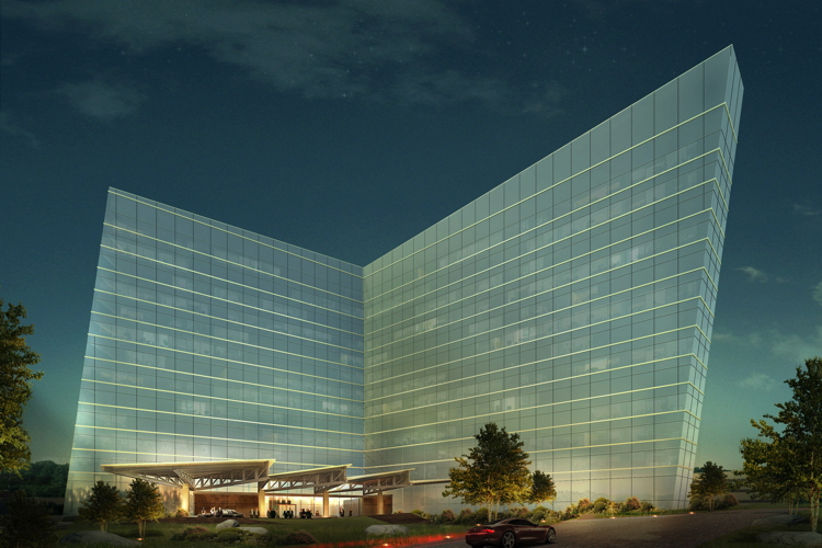 Rendering of the Earth Hotel Uncasville, Connecticut