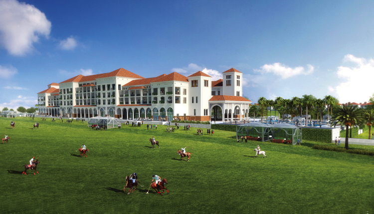Rendering of the St. Regis Dubai Al Habtoor Polo Resort & Club