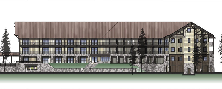 Rendering of Rush Creek Lodge