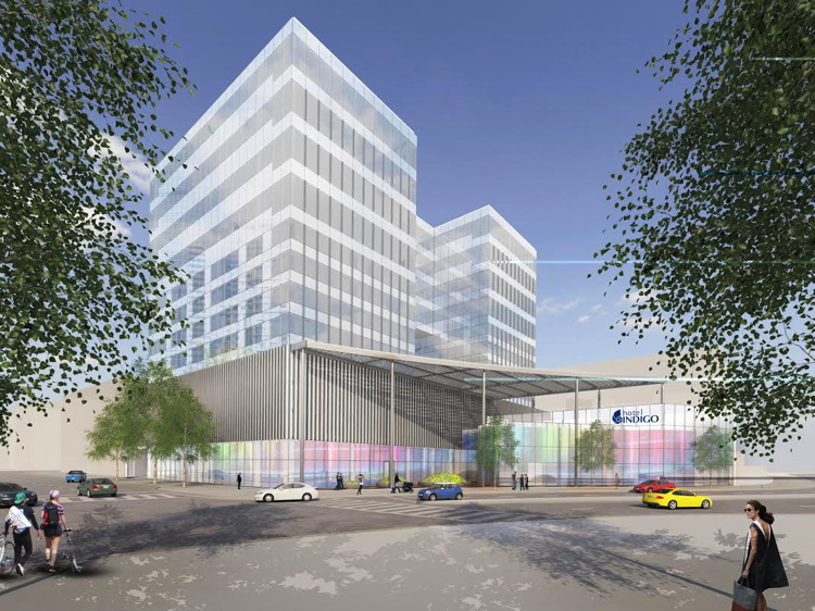 Rendering of the Hotel Indigo Denver