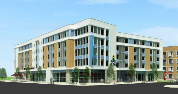Rendering of the Hyatt Place Boulder/Pearl Street