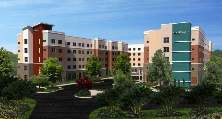 Dual Branded Courtyard & Residence Inn In Raleigh, North Carolina