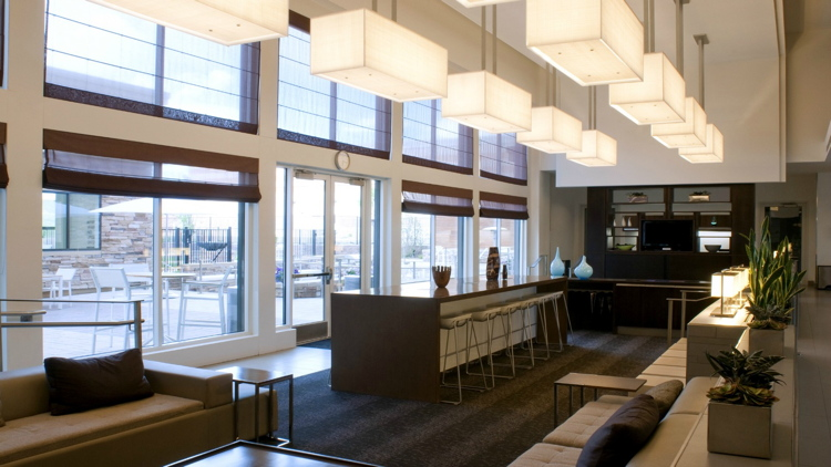 Lobby at the Element Denver Park Meadows Hotel