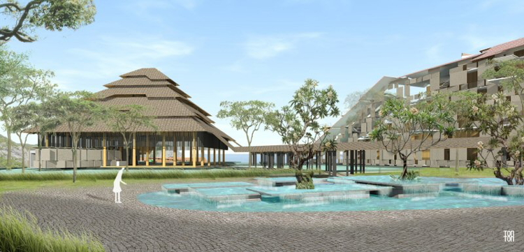 Rendering of the Swissôtel Bali
