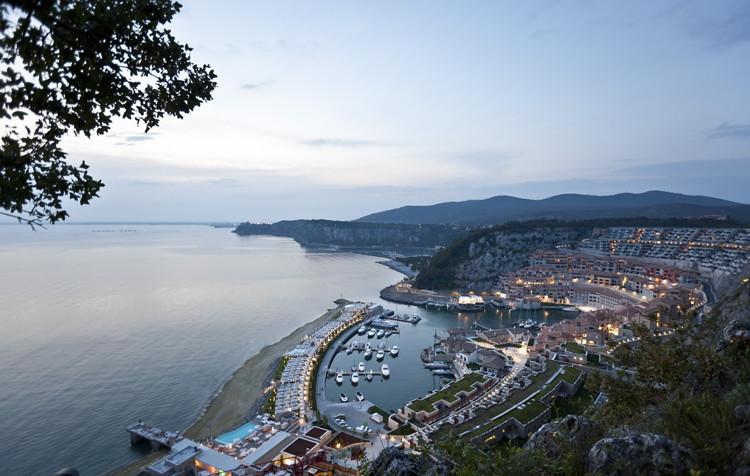 Starwood Hotels & Resorts - Falisia, a Luxury Collection Resort & Spa, Portopiccolo - Rendering Aerial View of Portopiccolo Development