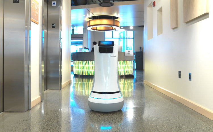 A Delivery Robot at Crowne Plaza San Jose-Silicon Valley