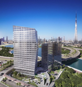 Rendering of the Langham Place Downtown Dubai